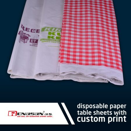 Disposable Laminated Paper Tableware Clothes